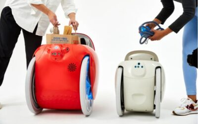 Gitamini is a cute, compact, cargo-carrying robot that will follow you around like a dog